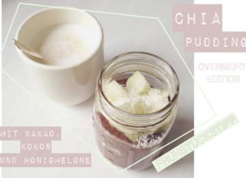 Chia Pudding Overnight mit Kakao Frühstückstipp