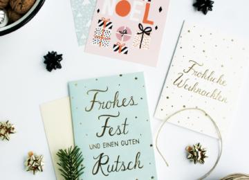 schöne Weihnachtskarten 2016