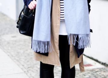 Streetstyle Fashion Week Streetstyle mit Schal