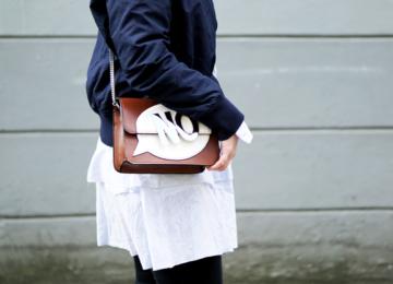 Streetstyle Details Tasche Bluse Bomberjacke