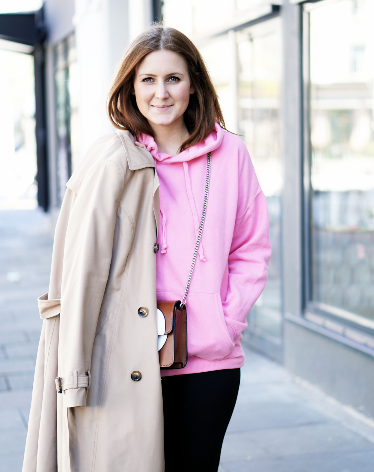 Streetstyle pink Hoodie Athleisure
