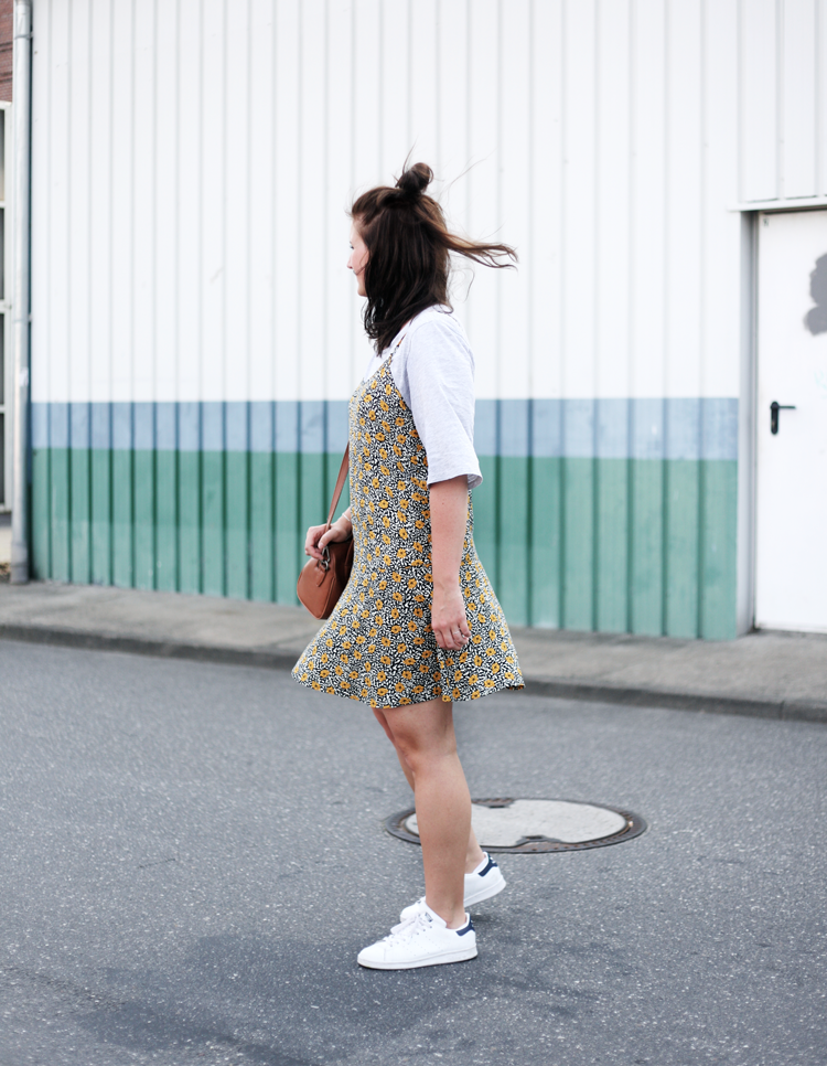 Slipdress White Shoes Blogger Streetstyle