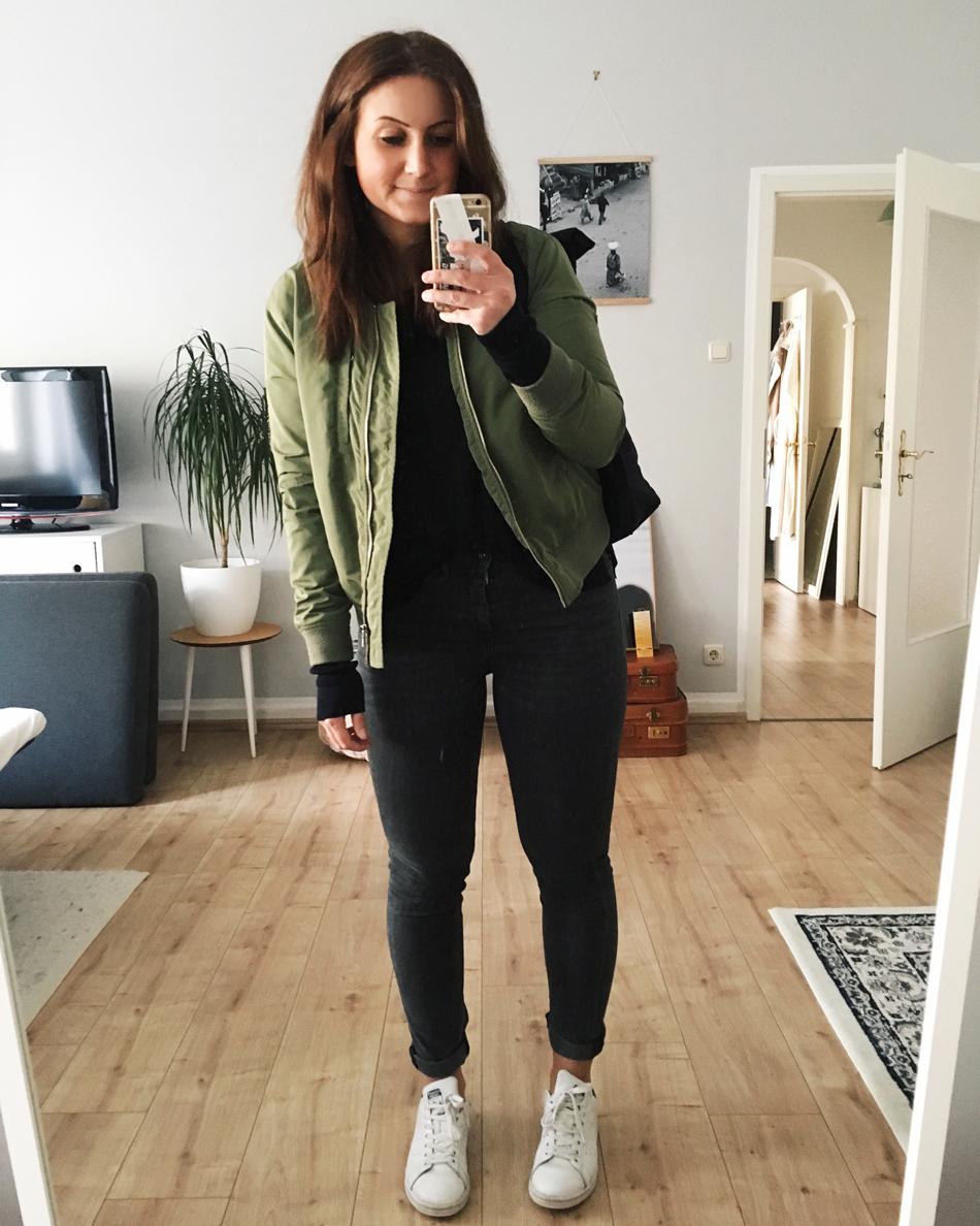 Alltagsoutfit Bomberjacke Blogger
