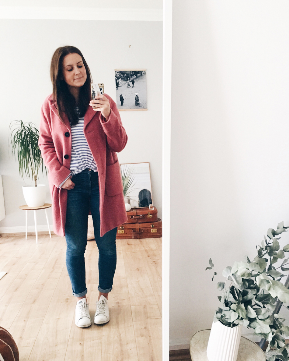 Outfit pinker Mantel