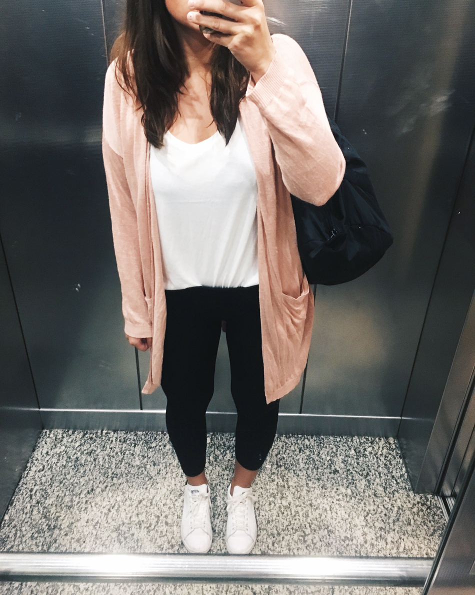 sportliches Outfit Longcardigan
