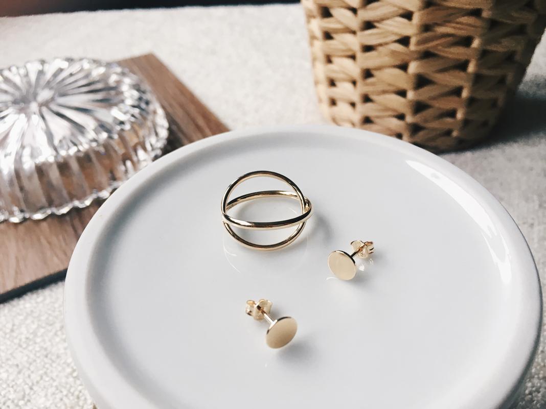 Goldschmuck 333 Ring Ohrringe günstig minimalistisch Tchibo