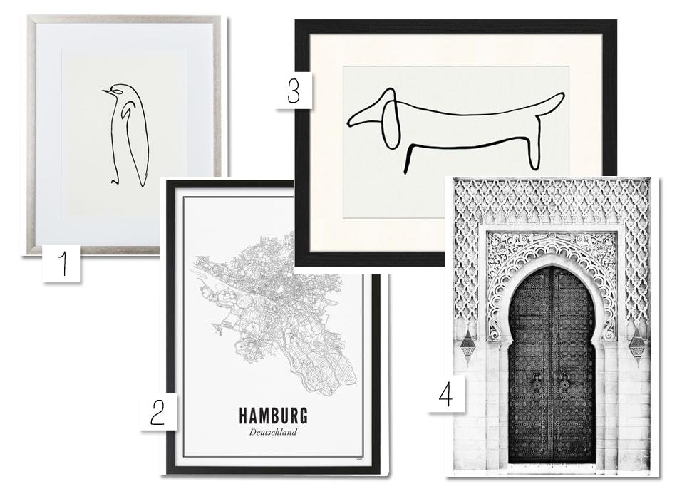 Bilderwand Wohnzimmer Interior Westwing Picasso Hamburg Stadtkarte